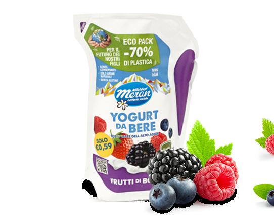 Ecopack - yogurt da bere ai frutti di bosco